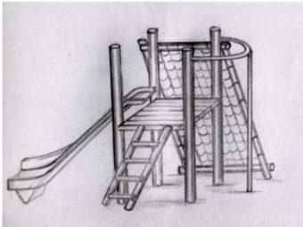 Platform, Slide, Net & Fire Pole