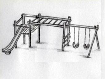 Pinnochio - A-frame swing &Slide