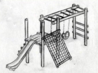 Pinnochio - Slides, Net & 2 Swings